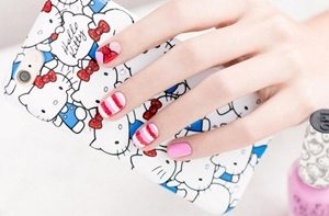 hello kitty nail set