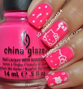 hello kitty nails design