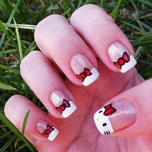 hello kitty nails pictures
