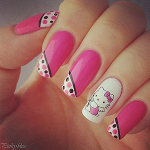 nail designs hello kitty