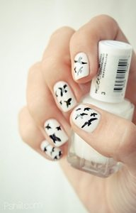 white short nails