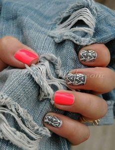 short nails color