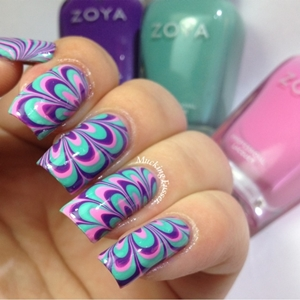 how to marble nails