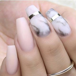 Coffin Nails Inspiration 35 Gorgeous Coffin Shaped Nails