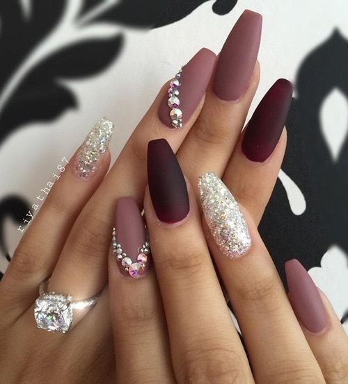 Coffin Nails Inspiration: 35 Gorgeous Coffin Shaped Nails |