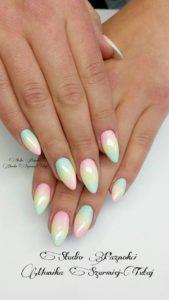 rainbow pastel nail art