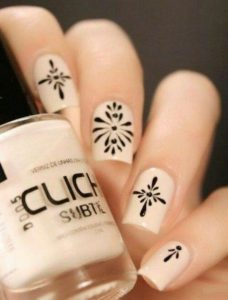 porcelain snowflake nails