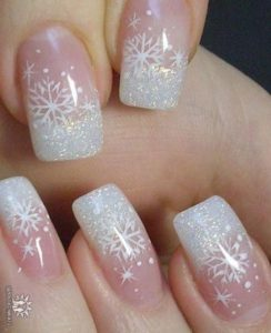 french snowflake nails