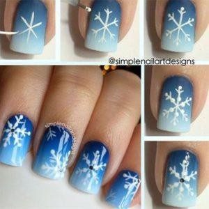 easy snowflake nails