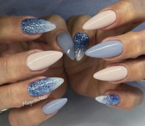 crystal blue nails