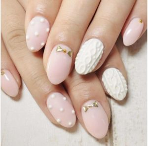 white porcelain nails
