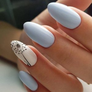 white blue nails