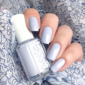 essie virgin snow gel color