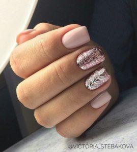 Pink gel manicure