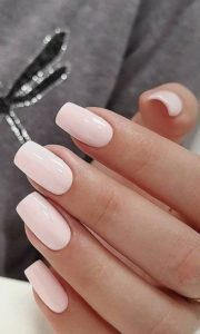 pink nude Gel Nails