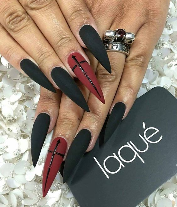 35 Stunning Pointy Stiletto Nails Stiletto Nail Designs