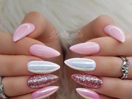 beautiful pink nail designs