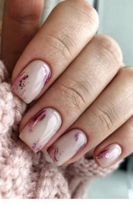 pink nude nail designs