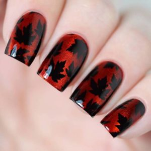 Fall Leaves nails