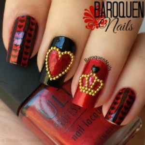 queen of hearts nails
