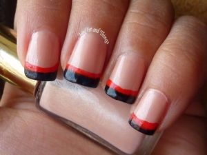 rench red black nails