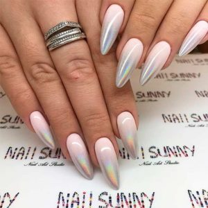 Ombre almond shaped nails