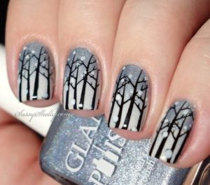 ombre with snowflakes