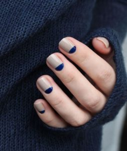 simple blue nails