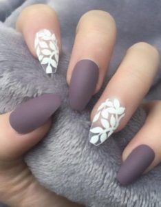 violet gray with white nails