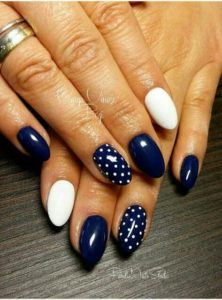 blue with white dots