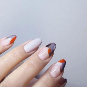 colorful tips manicure