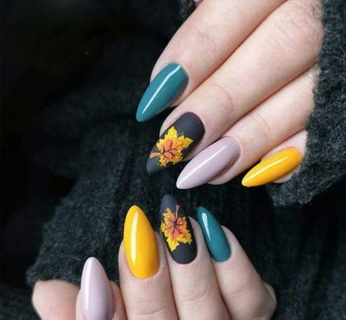 dashing fall nail design