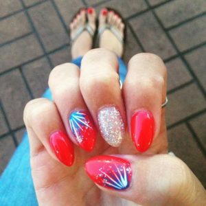 festive 4th of July nails