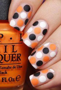 orange black white