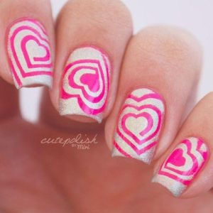 bright pink heart