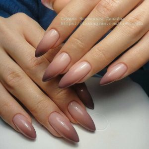 nude fall ombre