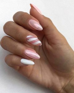 chrome shiny pink nails