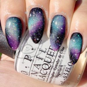 pointed galaxy nails