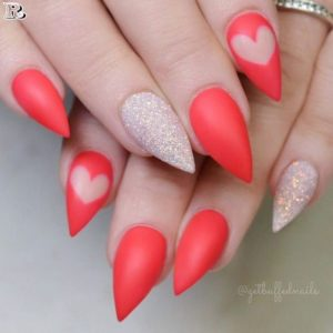 extreme stiletto shape heart