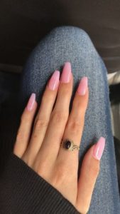 Neutral coffin nails color