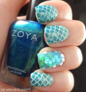 turquoise scales glitter