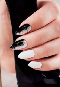 white and black done right