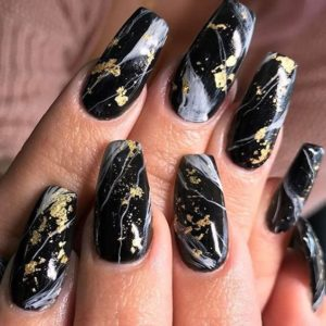marble black gold