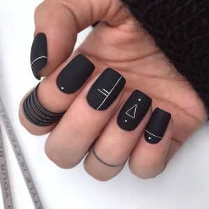 matte black with white
