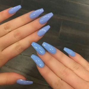 sky blue acrylic nails coffin