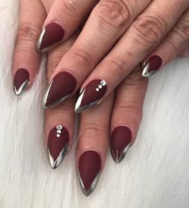 pointy nail french manicure
