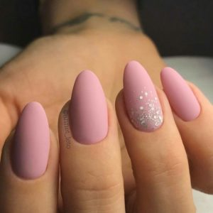 almond pink nails