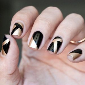 shapes in gold and black