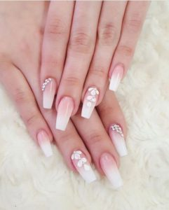 beautiful diamond nail art designs  diamond nails inspo