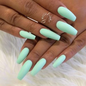 coffin pastel teal coffin acrylic nails
